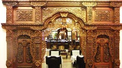 Bougainvillier Hotel cafe entrance in Phnom Penh, Cambodia