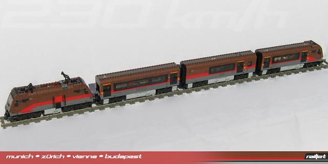Railjet MOC - the full train