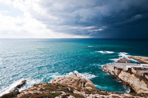 sea lebanon coast mediterranean corniche beirut pigeonrocks nikond90