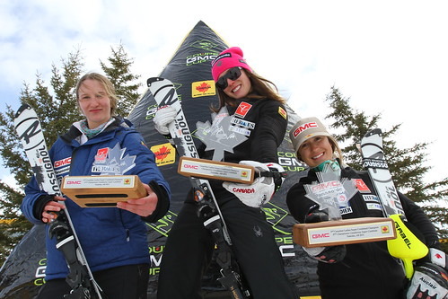 Madison Irwin (left), Marie-Michèle Gagnon (middle), Marie-Pier Préfontaine (right)