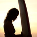 surf girl silhouette by *michael sweet*