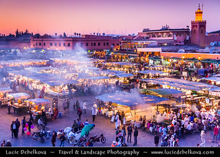 Morocco - Marrakesh - Jamaa el Fna - Famous square and market place in medina quarter (old city)