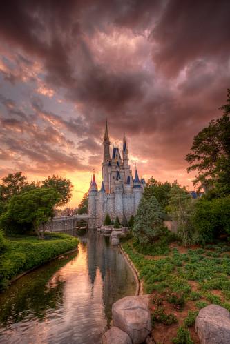 world sunset castle disney walt hdr photomatix
