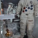 Steven F. Udvar-Hazy Center: Space exhibit, samples of space suit gear used by James Irwin on Apollo 15