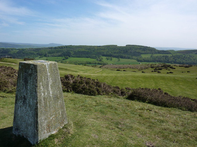 Trig point at the top of Y Golfa
