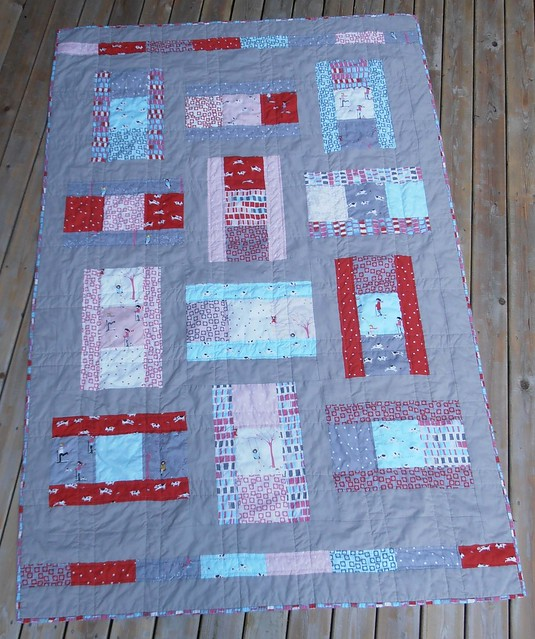 Comic Strip quilt washed