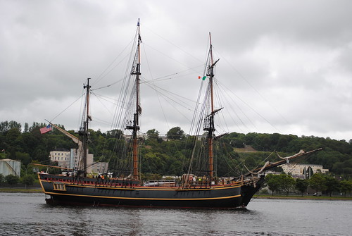 HMS Bounty [replica] sailing out of Port of Cork