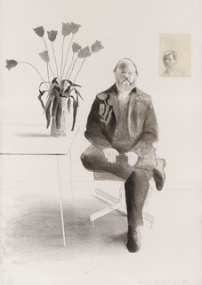 David Hockney - Henry Seated with Tulips [1976]