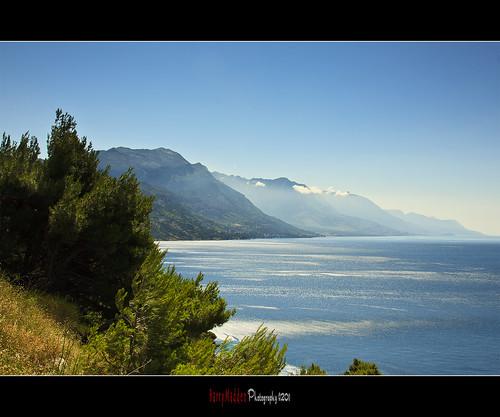 sea holiday mountains drive croatia coastline loma adriatic
