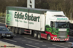 Scania R440 6x2 Tractor with Biomass 3 Axle Walking Floor Trailer - PX12 ELW - Lesley Eunice - Eddie Stobart - M1 J10 Luton - Steven Gray - IMG_4480