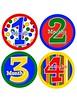 Monthly Milestone Onesie Stickers vibrant