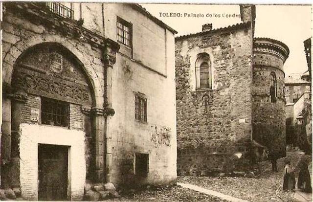 Palacio de los Toledo y ábside de Santa Úrsula a comienzos del siglo XX
