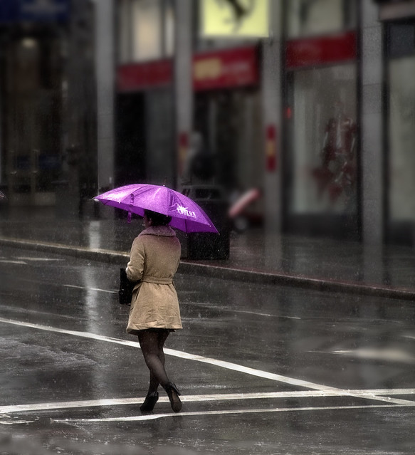 Rain in San Francisco; Market Street (2011)