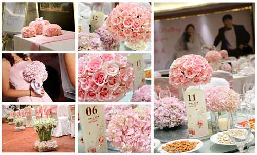 pink wedding ideas for spring More and more brides now choose pink as the