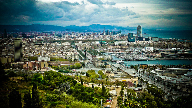 0189 - Spain, Barcelona, City View