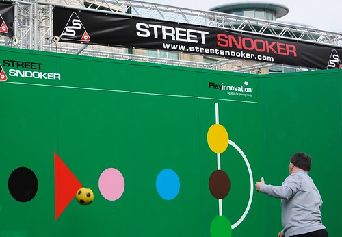 Street snooker outside the Crucible