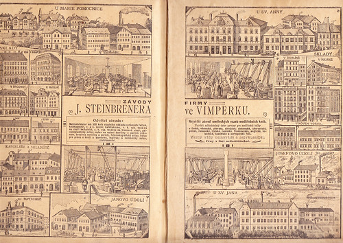 (48) Double page advertisement for the Johann Steinbrener print works in Vimperk.