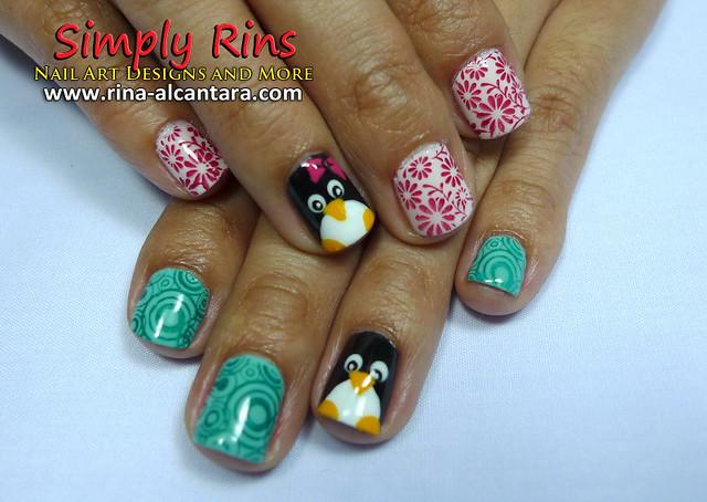 Nail Art Penguin 07