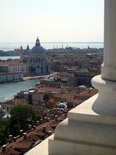 A view of venice from above
