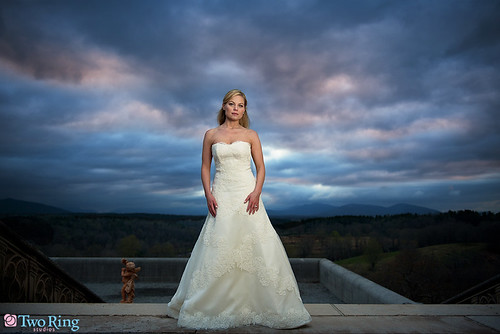 sunset bride nikon northcarolina bridal verawang pocketwizard strobist d700 nikkor2470mm flextt5 minitt1