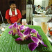 Orchid Decoration on Gelatin Drinks - Koh Samui, Thailand