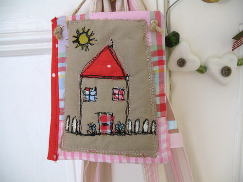 House mini quilt house applique