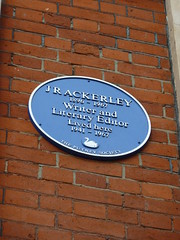Photo of J. R. Ackerley blue plaque