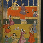 Illuminated Manuscript, Collection of poems (masnavi), A court scene with musicians and dancers, Walters Art Museum Ms. W.626, fol. 53b