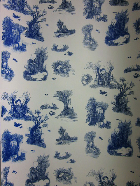 Wallpaper toile de jouy flickr photo sharing for Housse de couette toile de jouy