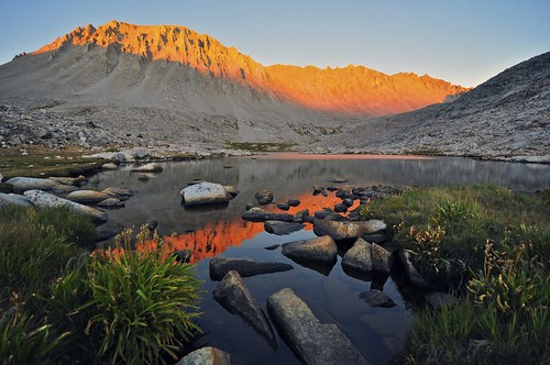 Guitar Lake, Mt. Whitney Alpenglow, Sequoia National Park