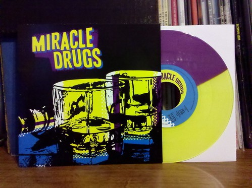 "Miracle Drugs - I'll Buy The Drinks 7"" - Purple & Yellow Spilt Vinyl /100 (Zac from Zoinks! new band)"