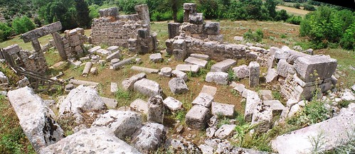 autostitch film church greek ancient ruins kodak masonry ruin gimp greece byzantine earlychristian