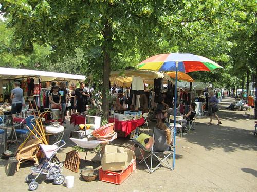 Boxhagner Platz, flea market