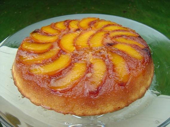 Peach Cake Tatin