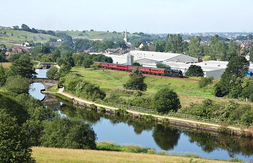 steam steamloco steamengine mainlinesteam railway 45305 gale littleborough thecoasttocoast black5 lms stanier rochdalecanal