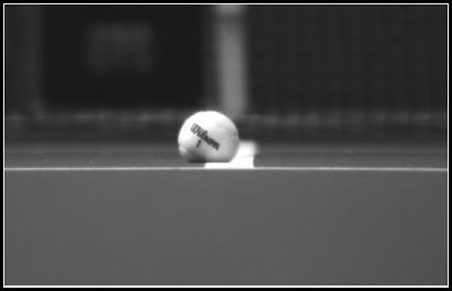 tennis ball in side line