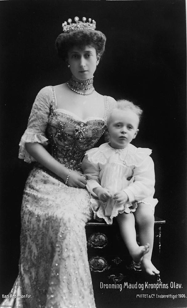 Dronning Maud og kronprins Olav, 1906