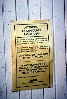 19961020 12 South Shore Line @ Ogden Dunes, IN