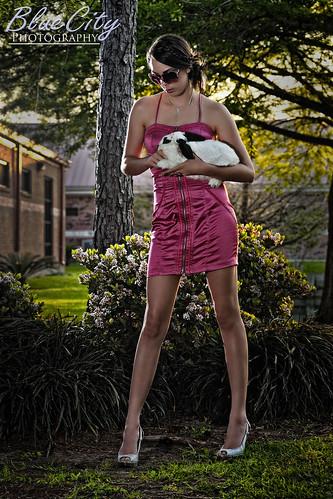 pink flowers rabbit bunny portraits model shoot texas dress modeling tx dresses lakejackson angleton modelmayhem michellecarroll brazoriacounty bluecityphotography bluecityphotographycom ashcouture