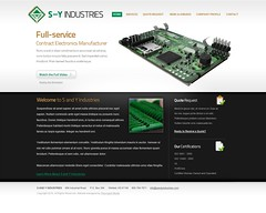 S and Y Industries Website Mockup