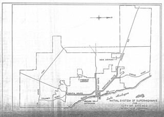 Initial System of Superhighways for City of Chicago Seven Year Program (1946)