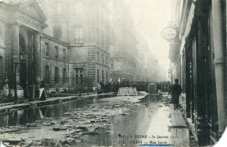 Crue de la Seine. 313. Paris. Rue Jacob. 30 Janvier 1910 (30 January, 1910)