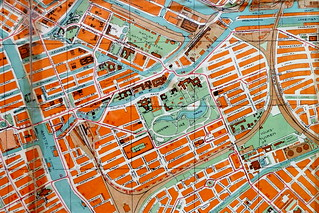 Map of Amsterdam of 1937