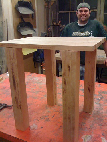Dave's table in progress 1