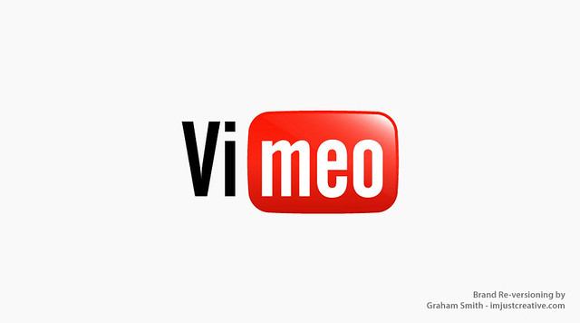 Vimeo in the style of the YouTube logo