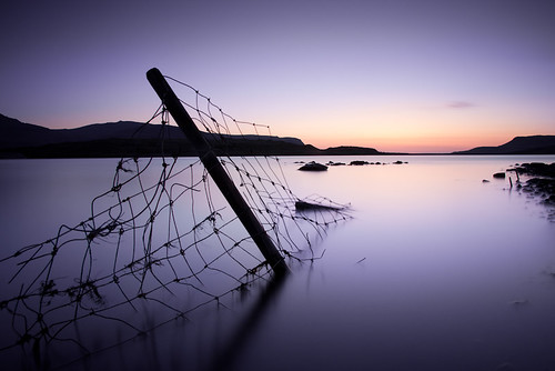 longexposure sunset sky lake mountains reflection silhouette yellow canon fence landscape purple pole faroeislands eiði explored 400d eiðisvatn