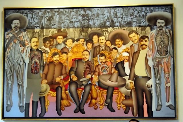 Mural en el museo de historia castillo de chapultepec for Mural z papiezem franciszkiem