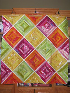 Rainbow Sherbet string quilt top