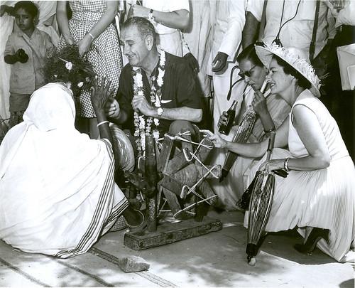 Vice President Lyndon Johnson in India