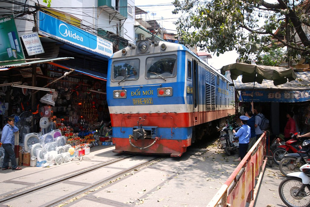 Railway crossing in Hanoi